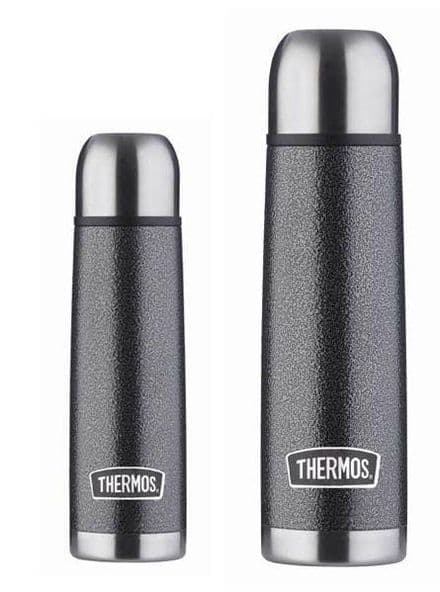 Thermos Hammertone Stainless Steel Flask - 0.5L